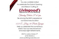 Grand Opening and Ribbon Cutting for Livingood's