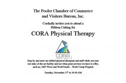 Ribbon Cutting for CORA Physical Therapy