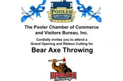Grand Opening & Ribbon Cutting for Bear Axe Throwing