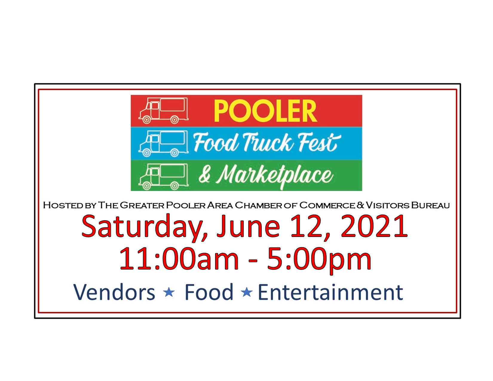 food truck event poster for facebook
