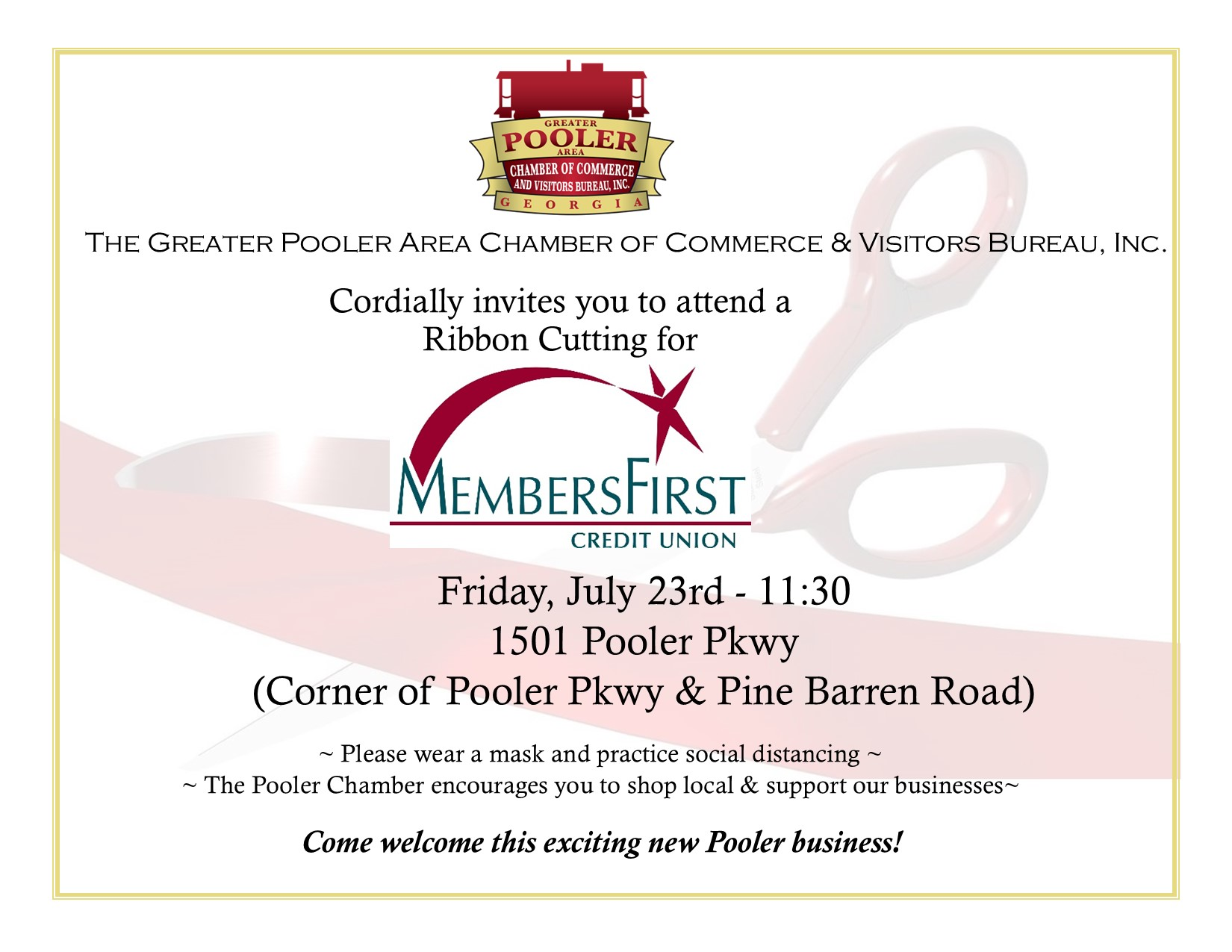Ribbon Cutting- Members First Credit Union
